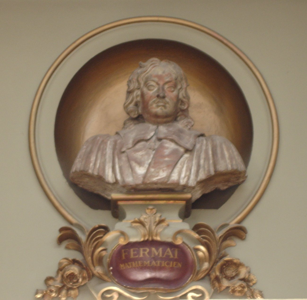 A bust of Pierre de Fermat, in the Capitole in Toulouse