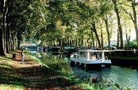 A barge on the Canal du Midi
