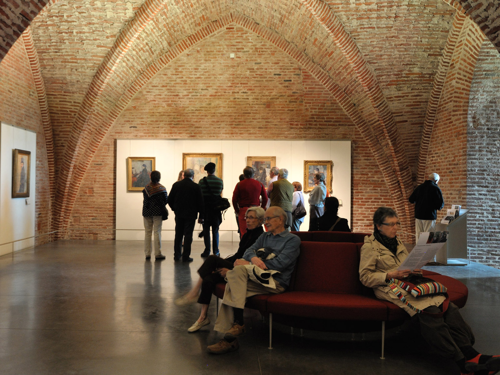 A nicely arched room in the Toulouse Lautrec museum in Albi